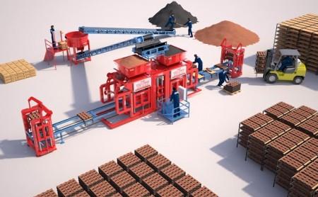 Machine de Parpaing Machine Brique Manuelle Automatique