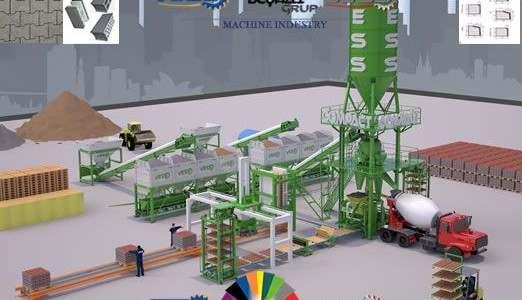 La machine a Parpaing est la machine qui produit tout types de blocs de parpaings de façon semi automatique